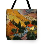 Landscape With House And Ploughman Tote Bag