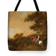 Landscape With Hunting Party Tote Bag