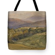 landscape with Lochnagar in the distance Tote Bag