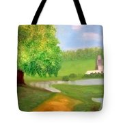 Landscape With Luxuriant Tree And Folly Tote Bag