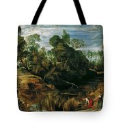 Landscape With Milkmaids And Cows Tote Bag