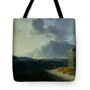 Landscape With Mount Stromboli Tote Bag