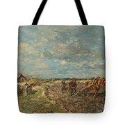 Landscape With Ploughmen Tote Bag