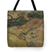 Landscape With Rabbits Saint Remy De Provence December 1889 Vincent Van Gogh 1853  1890 Tote Bag