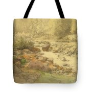 Landscape With Rocks In A River Tote Bag