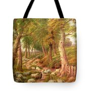 Landscape With Sheep Tote Bag by Charles Joseph