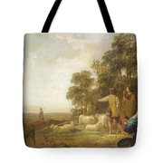 Landscape With Shepherds And Shepherdesses Near A Well Tote Bag