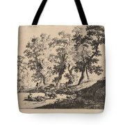Landscape With Shepherds Tote Bag