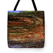 Landscape With Sky Reflected Tote Bag