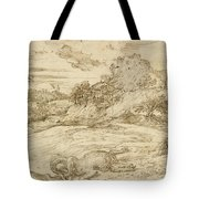 Landscape With St. Theodore Overcoming The Dragon Tote Bag