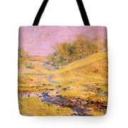 Landscape With Stream Tote Bag
