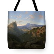 Landscape With The Castle Of Montsegur Tote Bag