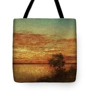 Landscape With Trees At The Rivers Tote Bag
