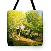Landscape With Trees In Wales Tote Bag
