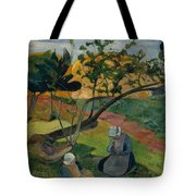 Landscape With Two Breton Women Tote Bag