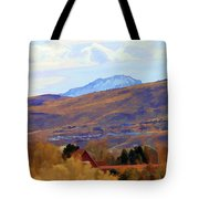 Landscape Wyoming State  Tote Bag