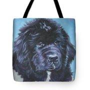 Landseer Newfoundland Puppy Tote Bag