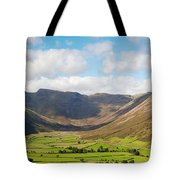Langdale Fell And Pikes Panorama Tote Bag