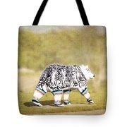Language Bear Tote Bag