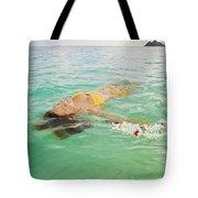 Lanikai Floating Woman Tote Bag