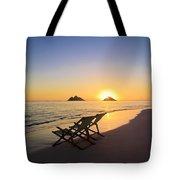 Lanikai Lounging At Sunrise Tote Bag