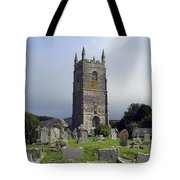 Lansallos Church Cornwall Tote Bag