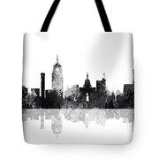Lansing Michigan Skylines Tote Bag