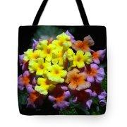 Lantana Flower Chips Tote Bag