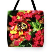 Lantanas And The Bee Tote Bag