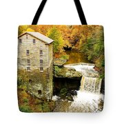 Lantermans Mill In Fall Tote Bag