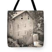 Lanterman's Mill In Mill Creek Park Black And White Tote Bag
