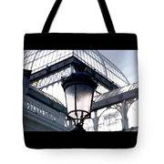 Lantern In Front Of The Crystal Palace, Madrid Tote Bag