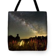 Lantern In The Lupines Tote Bag