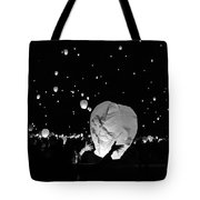 Lantern Liftoff Tote Bag