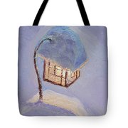 Lantern Light On A Snowy Evening Tote Bag