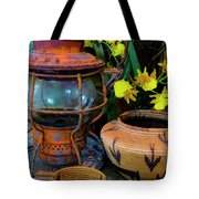 Lantern With Baskets Tote Bag