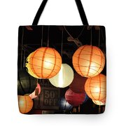 Lanterns 50 Percent Off Tote Bag