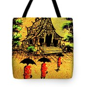 Procession To Temple, Lao Collection Tote Bag