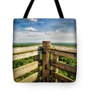 Lapham Peak Wisconsin - View From Wooden Observation Tower Tote Bag