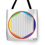 Large 64 Tetra Flower Of Life Tote Bag