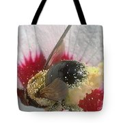 Large Bumble Bee In Flower Tote Bag