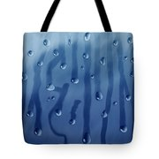 Large Drops Of Rain On The Glass Tote Bag