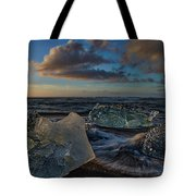 Large Icebergs At Dawn #4 - Iceland Tote Bag