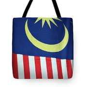 Large Malaysia Flag On Doorway Georgetown Penang Malaysia Tote Bag