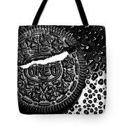 Large Oreo Black And White  Tote Bag