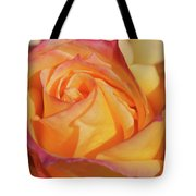 Large Peace Rose Center 006 Tote Bag