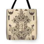 Large Pendant, Temperance Standing At Centre Tote Bag