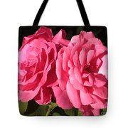 Large Pink Roses Tote Bag