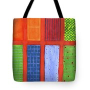 Large Rectangle Fields Between Red Grid  Tote Bag