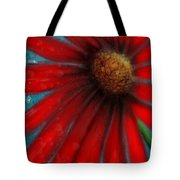 Large Red Flower Tote Bag